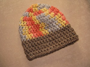 Autumn hat--cute, AND the brim rolls up too.