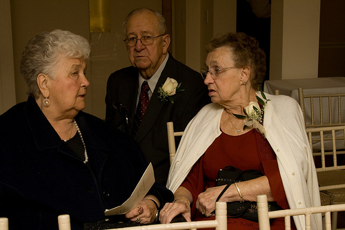 Aunty Dorothy with Grandpa and Granny, at our wedding