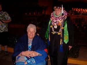 Aunty Dorothy in Hawaii, at Cecilia's graduation