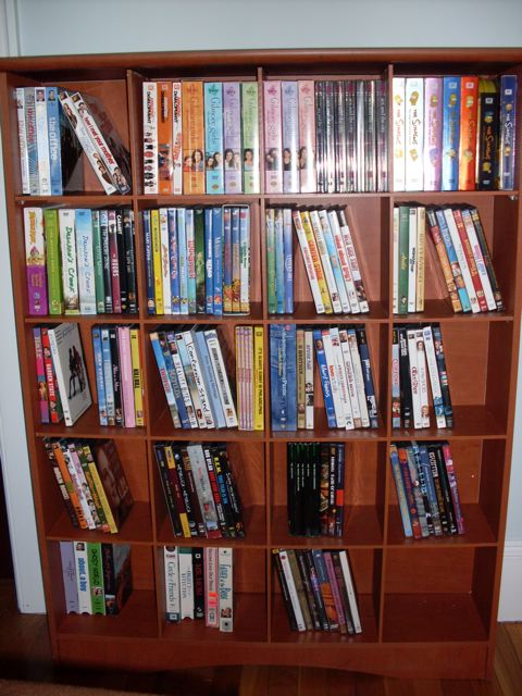 Our new DVD shelf