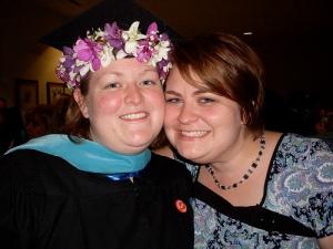Cecilia's graduation ceremony